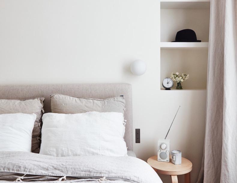 Màu trắng được sử dụng trong phòng ngủ