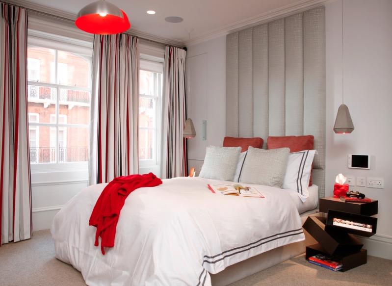 Không gian phòng ngủ với gam màu hiện đại